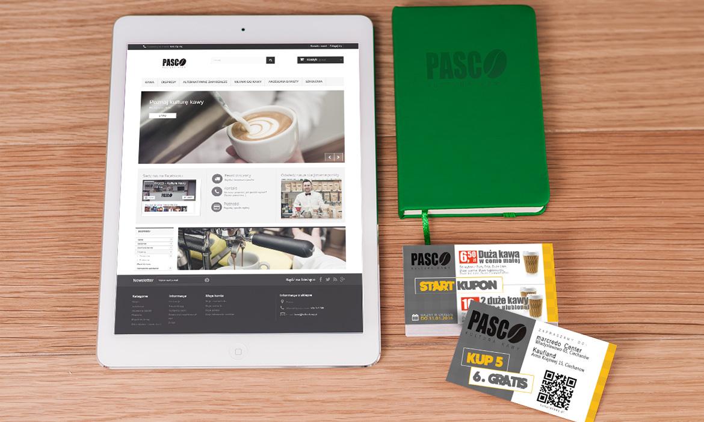 Identyfikacja wizualna + sklep dla PASCO